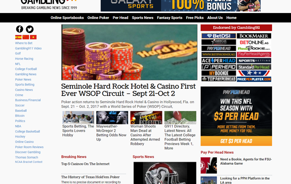 Gambling911 Sports & Poker News